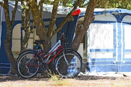 Camping pitches for caravans, tents and camper vans