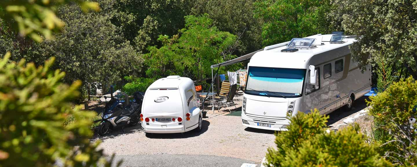 Spacious and shaded pitches in Provence-Alpes-Côte-d'Azur