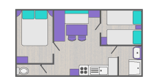 Map of mobile home for a sunny holiday