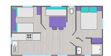 Map of new mobile home ideal for spa clients at the thermal baths of Gréoux-les-Bains