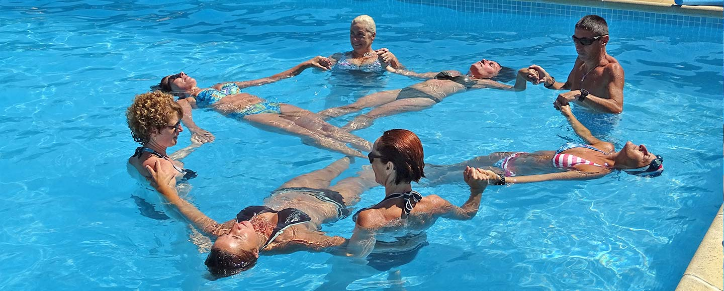 Aquagym class at the campsite pool